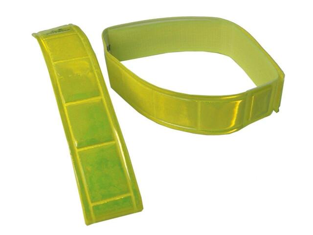 Wowow Hosenband Signalfarbe mit Klettverschluss 1 Paar gelb